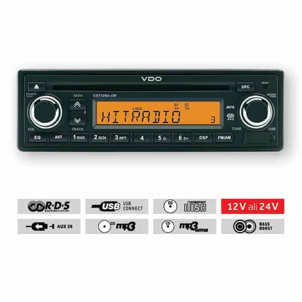 TahoCenter Avtoradio VDO USB CD